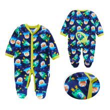 hot deal buy newborn 12m baby boys 2019 spring baby rompers soft baby boys romper warm fleece baby jumpsuit for kids boys costumes