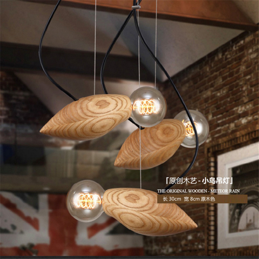 suspension lighting fixtures. Vintage Hanging Pendant Lights Wood Suspension Lighting Fixtures Modern Lustres De Led Indoor LED Light Fixture-in From