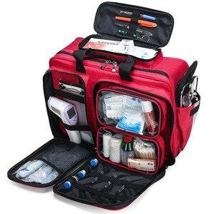 Image 3 - Outdoor First Aid Kit Refrigeratible Sports Red Nylon Waterproof Cross Messenger Bag Family Travel Emergency Bag DJJB026