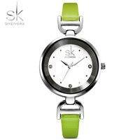 Shengke 심플한 디자인 여성 Wirst 시계 숙녀 얇은
