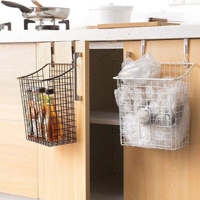 Iron Hanging Storage Basket Kitchen Shelf Basket Bathroom Cabinet Free Punch Basket & Iron Hanging Storage Basket Kitchen Shelf Basket Bathroom Cabinet ...