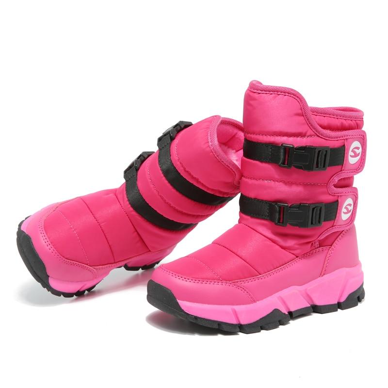HOBIBEAR Winter Snow Boots for Girls Skórzane buty dziecięce Warm - Obuwie dziecięce - Zdjęcie 3