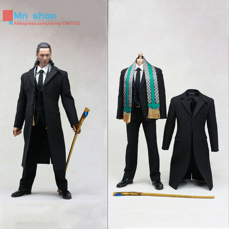 POPTOYS 1/6 Soldier Accessories The Avengers Loki LOKI Windbreaker Suit with Cane  For 12 Action Figure Doll Toys high quality kids boots girls boots fashion leather snow boots girls warm cotton waterproof girls winter boots kids shoes girls