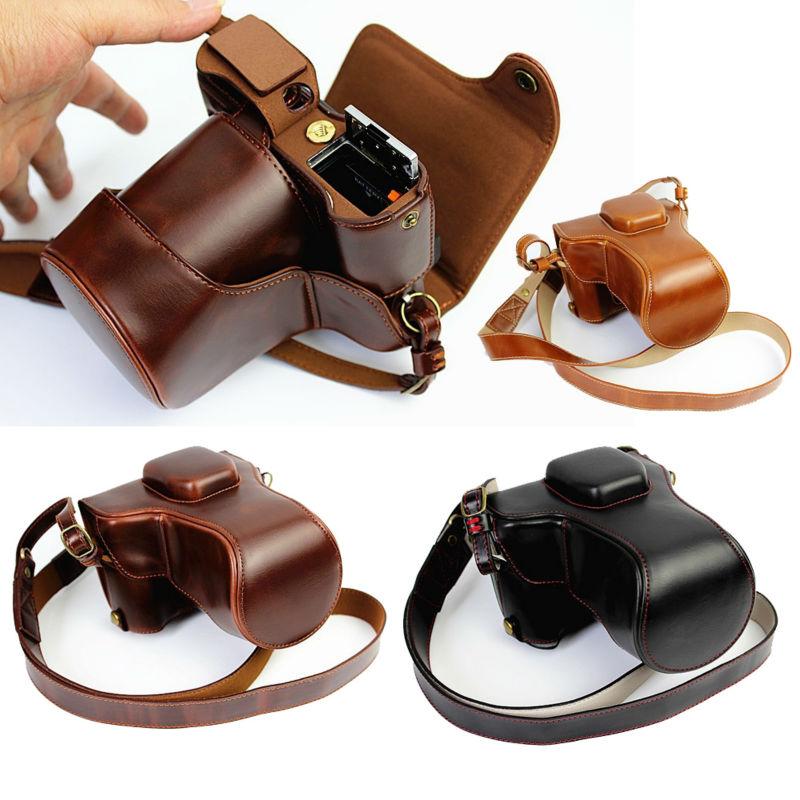 De luxe PU Sac Photo En Cuir Pour Fujifilm X-T20 XT20 X-T10 XT10 16-50mm 18-55mm objectif Camera Case En Cuir Avec Sangle