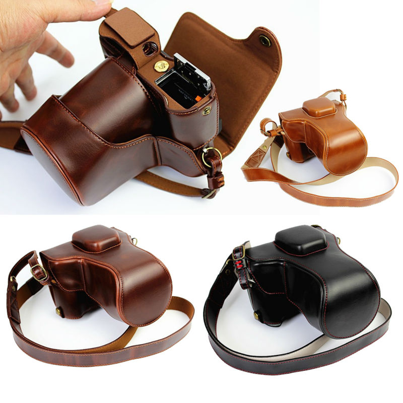 Luxury PU Leather Camera Bag For Fujifilm X-T20 XT20 X-T10 XT10 16-50mm 18-55mm lens Camera Case Leather With Strap