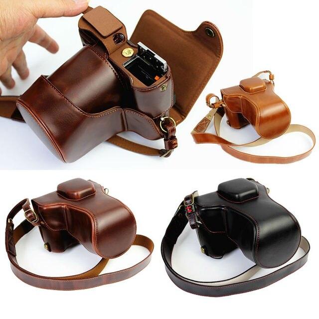 กระเป๋ากล้องหนังPUสำหรับFujifilm X T20 XT20 X T10 XT10 16 50Mm 18 55มม.เลนส์พร้อมสายคล้อง