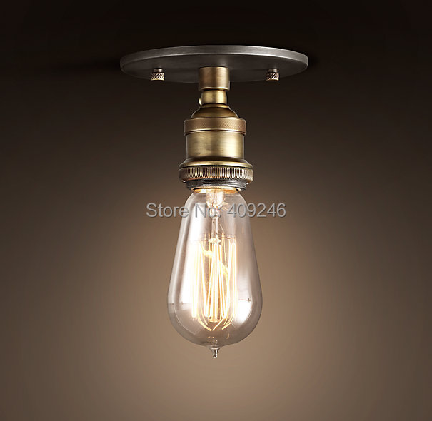 Vintage Retro Industrial Edison Ceiling Light E27 Pure