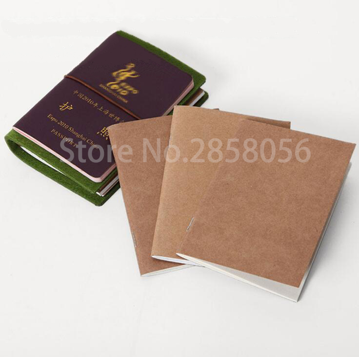 Passport&pocket Travel Notebook Inner Core Travel Diary Notebook Refill Planner Kraft Paper