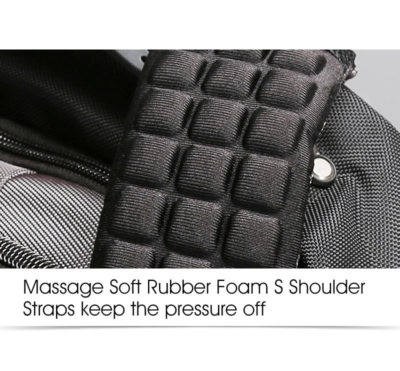 Aoking Original Brand New Patent Design Massage Air Cushion1 Men's Laptop Backpack Men Large Capacity Nylon Comfort Backpacks 7