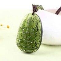 5 Natural Czech Moldavite Green Aerolites Carved Buddha Lucky Amulet Pendant Crystal Energy Apotropaic Free Rope