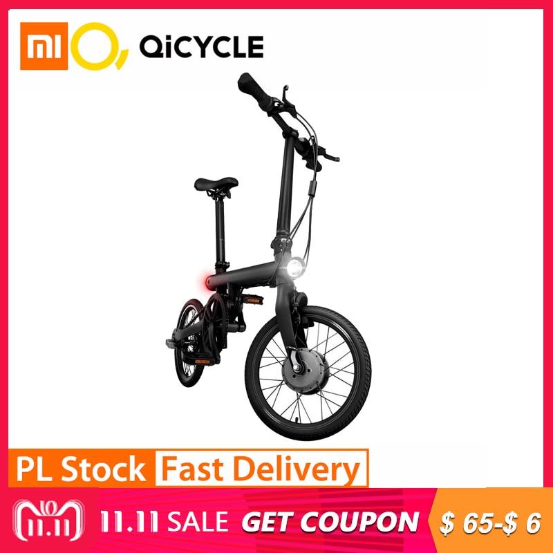 Xiaomi QiCYCLE EF1 умный велосипед Fordable велосипед датчик крутящего момента мопед электрические велосипеды алюминиевый сплав легкий Международный ...