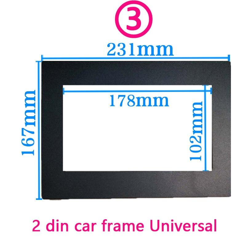 Автомобильная рамка для универсального 2 Din Авто Радио/android плеер рамка для модификации декоративная рамка 178x102 мм панель без зазора - Название цвета: 3 frame da