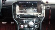 2015 2016 Real de Fibra de Carbono Center Control Protege La Cubierta Trim Para Ford Mustang