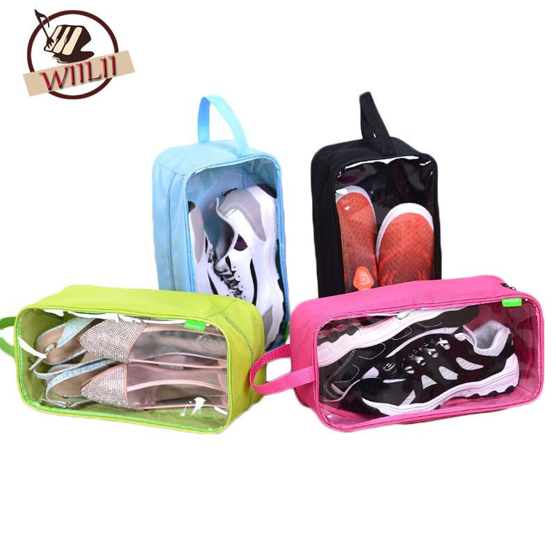 Portable Polyester Travel Outdoor Football Boot Sports Gym Shoe Bag Carry Storage Case Box Organizer Container Shoe Bags