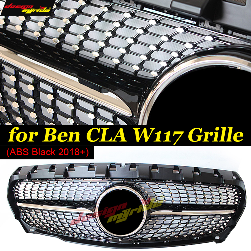 W117 Front Grill Diamond Grille For Mercedes Benz Cla W117 Cla180
