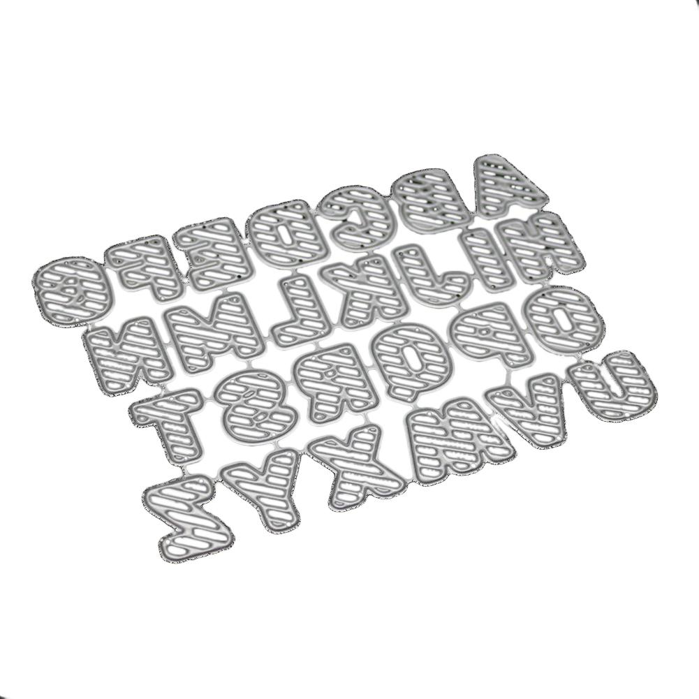 Adeeing Letter Pattern Carbon Steel Cutting Dies Set DIY
