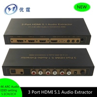 3 Port HDMI 5.1 Audio Extractor ARC Audio 5.1CH/2CH 3X1 hdmi switch audio extractor DTS AC 3 Dolby audio format True decoder
