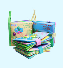 Baby Book Cloth Books for Kids Learning Resources 3D Alphabet Learning Multifunctional Early Textbook with Sound Paper BB цена