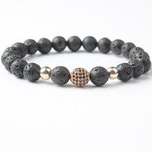 Lingxiang 2018 new  lava bead bracelet is suitable for men and women to wear jewelry gifts