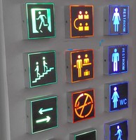 High Power LED Cube Light Lamp Sign Indicator Direction Board signal lamp wall lamp hallway public places AC85 265V 1W