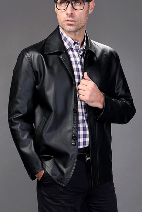 Compare Prices on Men Brown Leather Jacket- Online Shopping/Buy