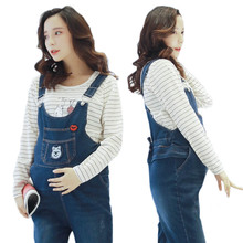 5b57008e63add Maternity Jeans Pants For Pregnant Women Clothes cartoon Bear Suspender  Trousers Maternity Clothing Pants Bib Overalls