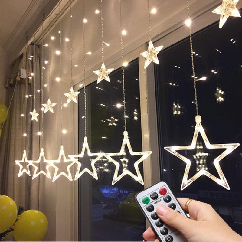 2.5M LED Star Light String Flash Lights Christmas Wedding Party Lights String For House Bedroom Bar Window Lights Decoration