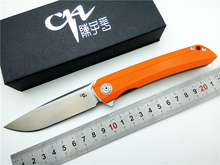 Marca ch 3002-G10 cuchillo plegable D2 hoja G10 bolsillo mango EDC rodamiento de bolas utilidad acampar al aire libre del cuchillo táctico herramienta de mano