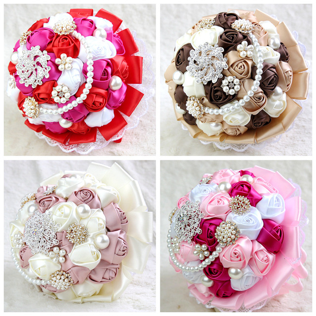 Gorgeous Crystal Wedding Bouquet Brooch Bouquet Wedding Accessories Bridesmaid Artificial Wedding Flowers Bridal Bouquets XF01