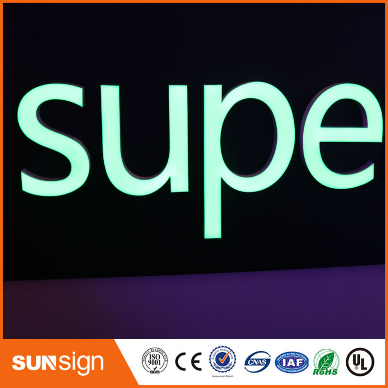 Custom Sign Aliexpress Supplier Make Super Quality 3d Sign Letters