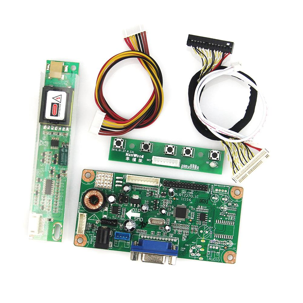 LCD/LED Controller Driver Board  (VGA)For QD15TL04 QD15TL02  1280x800 LVDS Monitor Reuse Laptop