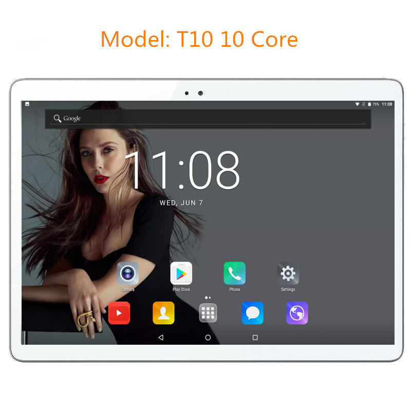 DHL Free Shipping 10 inch T10 tablet PC Deca Core 3G 4G GPS Android 7.0 4GB 128gb/64gb Dual Camera 8.0MP 1920*1200 IPS Screen(China)