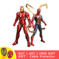 Super héroe de acción figura de hombre y hombre araña juego final vengadores juguete de dibujos animados de PVC colección de modelos de juguetes regalo para los Niños # E