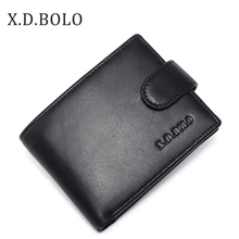 X.D.BOLO 2019 Brand Genuine Leather Wallet Mens  Coin Holders Luxury Male Cowhide Purse Men Leather Wallets for Money and Cards все цены