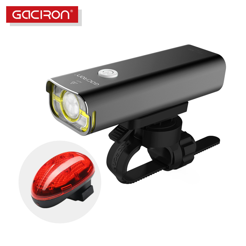 GACIRON USB Rechargeable front torch bike cycling led waterproof lights 400 lumens Bicycle Accessories with Free W04 tail light gaciron v9d cycling front lights bike cree l2 led usb rechargeable bicycle lights with w05 rear light taillight