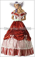 Natural Floor length Ball Gown Lace Shipping Colonial Civil War Scarlett/southern Belle Lolita Cosplay Ball Gowns