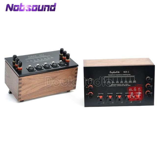 US $764 15 15% OFF|2017 New Raphaelite B25 Universal Self coupling  Headphone Impedance Matching Box XLR/RCA 16OHM 600OHM-in Amplifier from  Consumer