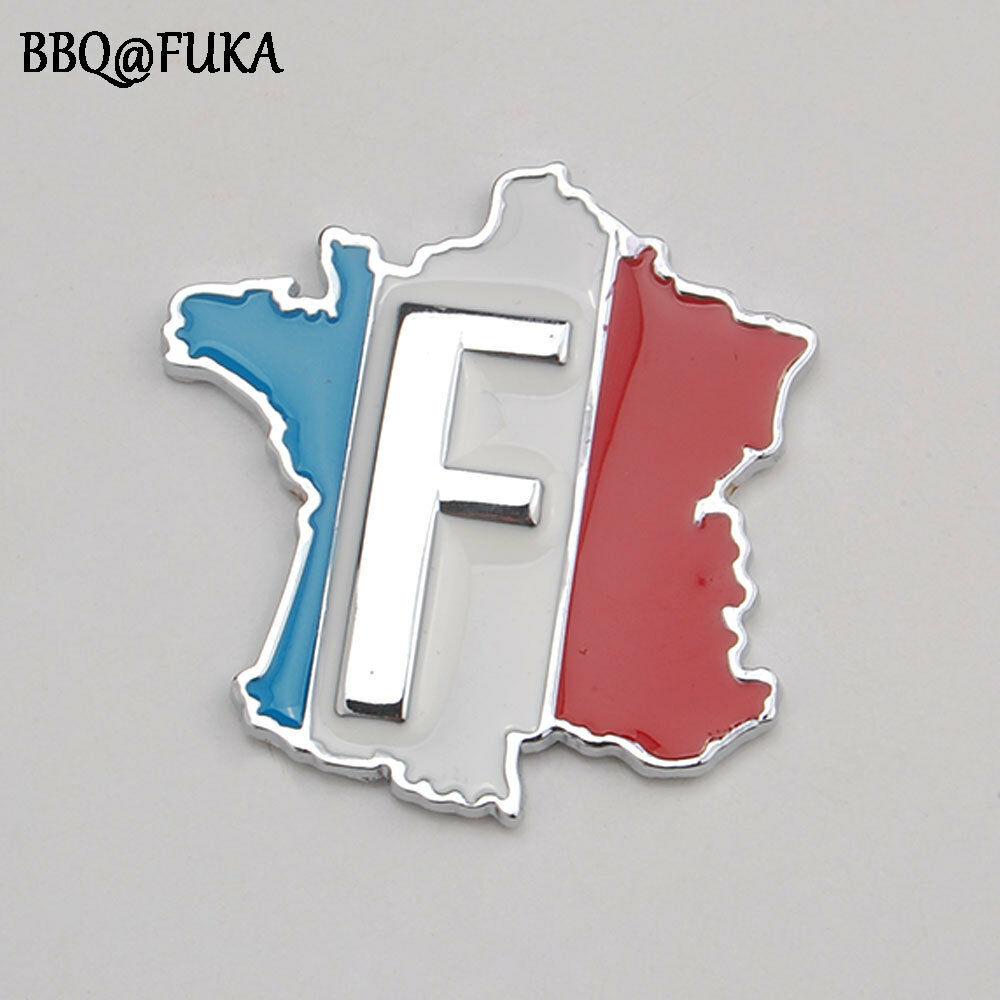 Bbq At Fuka Frankreich Französisch Flagge Karte Fender Emblem Abzeichen Aufkleber Auto Lkw Seite Aufkleber Metall Auto Dekoration Moulding Für Toyota