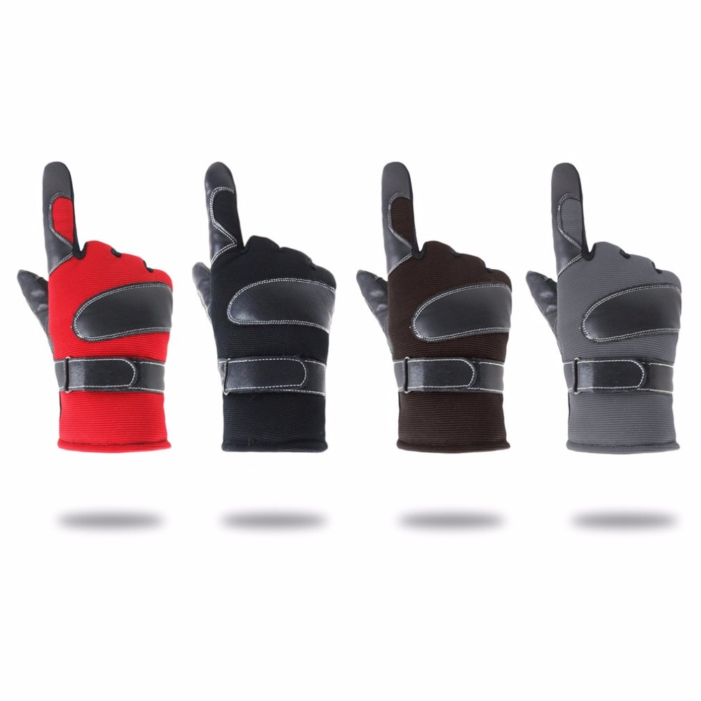 Men Winter Riding Gloves Thickened Skiing Gloves Breathable Plus Velvet Motorcycle Gloves Screen Touch Touchable Protector Glove