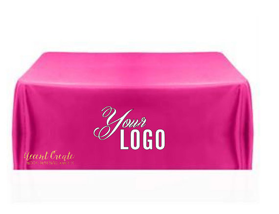 Nappe personnalisée 6ft-nappe personnalisée, couverture de Table, affichage d'événement, salon, salon artisanal-chemin de Table monogramme