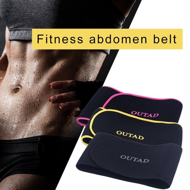 Unisex Exercise Comfortable Waist support Trimmer Weight Belt Burn Body Shaper Workout Gym Fitness Adjustable Slimming Belt