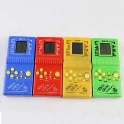 Классический Ручной игровой автомат игра «Тетрис» детская игровая машина с игры воспроизведения музыки без Батарея