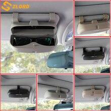 Двойной/одинарный 2 Стиль Пряжка Автомобильный Чехол для очков Органайзер коробка держатель солнцезащитных очков карманы для hyundai IX35 Verna Tucson Kia
