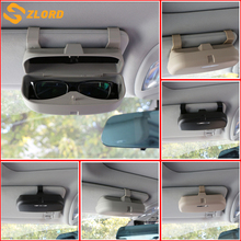 цена на Double/Single 2 style Buckle Car Glasses Case Organizer Box Sunglass Holder Pockets for Hyundai IX35 Verna Tucson Kia