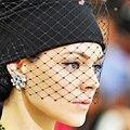 2016 novos modelos de inverno de rua atirando estilo Europeu & American Faye fios véu de gaze de malha gorro de lã chapéu feito malha das mulheres vindima