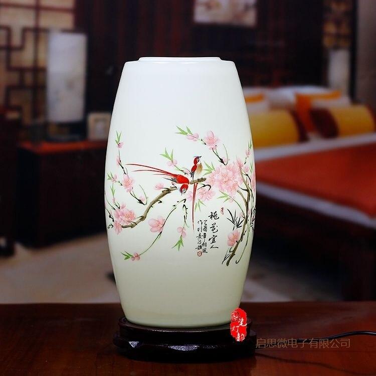 New Chinese Style table lamp wooden base e27 holder Ceramics Table Lamp For Living Room Bedroom retro bedside lamp Modern desk european style modern table lamp for bedroom living room luxury decoration desk lamp bedside table lighting