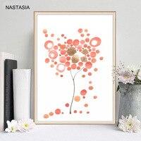 NASTASIA 10pcs European Wedding Fingerprint Checker Tree Creative Signature To Draw Paper Tube Packaging