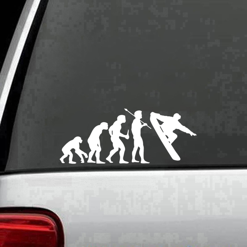 Snowboarding Evolution Decal Sticker Car Truck Window Creativity Car Accessories Motorcycle Car Styling Car Sticker in Car Stickers from Automobiles Motorcycles