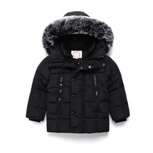 Children's jacket 2017 winter children's clothing fashion boys coat new style children's large fur collar coat