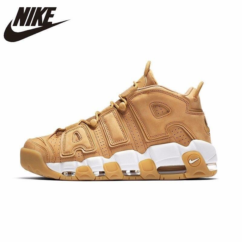 NIKE Air более Uptempo оригинальный Мужская баскетбольная обувь стабильность Ретро Высокая поддержка спортивные кроссовки для мужская обувь